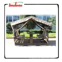 Outdoor-Designer Schaukel Garten Pavillon in Schaukelstuhl und Tisch