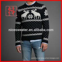 Mode erwachsene Männer Jacquard-Pullover strickte Weihnachts-Pullover