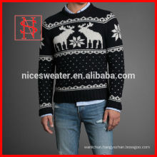fashion adult mens jacquard sweater knitted christmas jumper