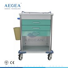 AG-MT034 Zuverlässiger Krankenpfleger beweglicher Patientenbehandlungskrankenhauslaufwagen für die Krankenpflege