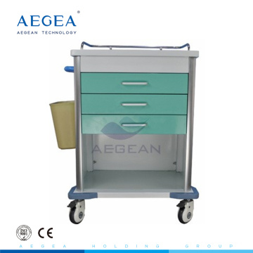 AG-MT034 Reliable medical nurse movable patient treatment hospital trolley for nursing