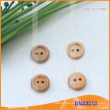 Botones de madera naturales para la prenda BN8001