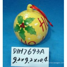 Bolachas suspensas cerâmicas para decoração de natal