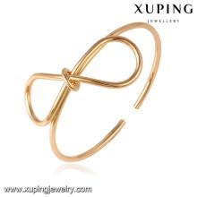 51642 Xuping 18 k banhado a ouro cor jóias moda mulheres pulseiras