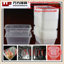 Taizhou thin wall pp plastic container injection mould with high quality injection moulding