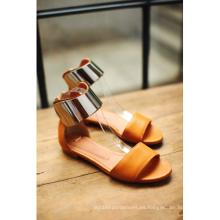 Sandalias planas de las nuevas mujeres de la colección del estilo (HCY02-677)