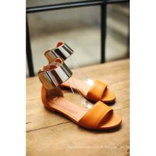 Sandales plates pour femmes de la nouvelle collection (HCY02-677)