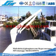 1.5t@4m Mini grue télescopique pour yachts hydrauliques