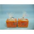 Pumpkin Candlestick Shape Ceramic Crafts (LOE2361-6.5z)
