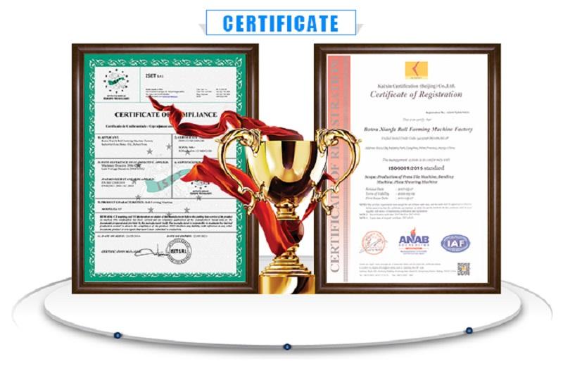 Certificate 800