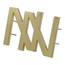 Handbag Metal Text Logo Tag