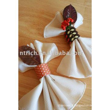 serviette de l'hôtel, polyester serviette, serviette de table de banquet, serviette de table de mariage