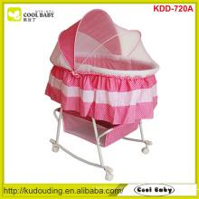 Fabricante NOVO Design completo borboleta mosquito net cobrir bebê portátil berço Rocking berço grande armazenamento cesta rosa azul
