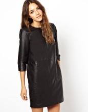 Newest Fashion Cheap Factory Women Leather Dress (JK11016)