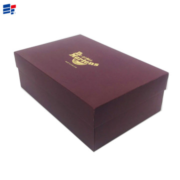 Paper cardboard shoe packaging box
