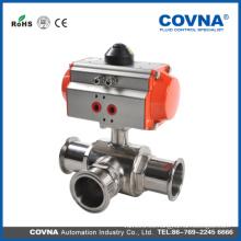 Válvula neumática de acero inoxidable de doble actuación ISO9001