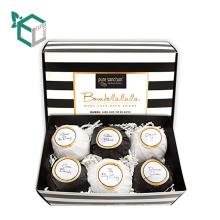 Diseño de patrón de rayas Organic Bath Bomb Gift Sets 4 ~ 6 Pack