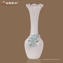 Vaso de cerâmica de pescoço comprido de estilo vintage de alta qualidade para atacado