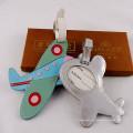 Avion Promotion Cadeau Voyager Étiquette en cuir ID Étiquette de bagage (B1005)