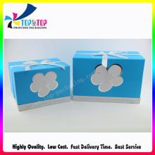 Caixa de presente quadrada elegante com laço da fita