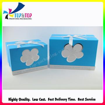 Base e tampa estilo caixa de presente de papel com bowknot