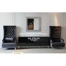 Sofa im Neo-klassizistischen Stil Wohnzimmer aus Holz Stoff Freizeit (LS-119)
