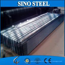 Tuile ondulée galvanisée d'acier de tôle de toiture de Z60 pour la construction