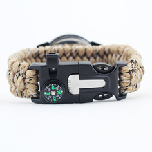 Adjustable Survival Watch Paracord Bracelet Watch