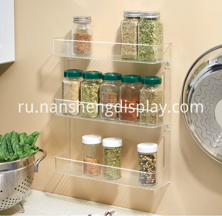 Wall Mount Spice Organizer Rack