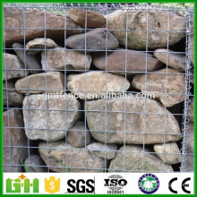 GM High Quality Galvanized or PVC coated woven gabion box/Gabion Basket