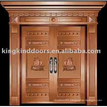 luxury copper door villa door exterior door double door KK-703