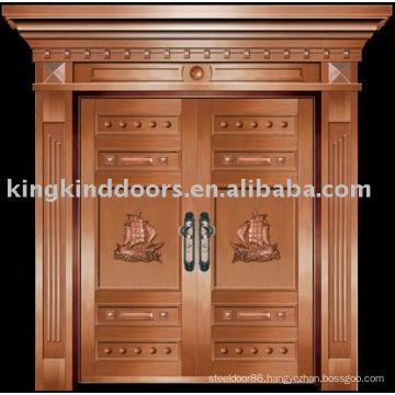 luxury copper door villa door exterior door double door KK-703