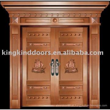 luxo cobre villa porta porta exterior duplo porta KK-703