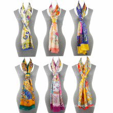 Fashion Printing chiffon 100 polyester scarf Square Scarf