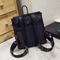 Waterproof Black Waxed Cotton Leather Shoulder Handbag