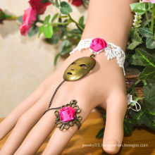 Facotry charms cloth accesseries wholesale FC-14 pink dimamond rubber bracele