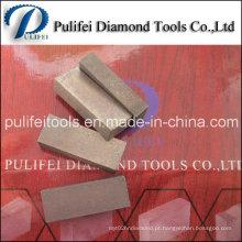Segmento de diamante viu pequeno tamanho lâmina de corte abrasivo segmento de granito
