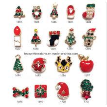 2016 Fabrika Satış Noel Nail Art Alaşım Toptan Noel Ağacı Tırnak Aksesuarları (1684-1701)