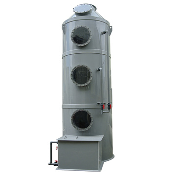 Air scrubber for industrial waste gas treatment