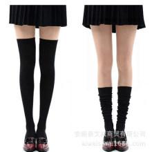 Frauen Baumwolle über Knie hohe Strümpfe (TA210)