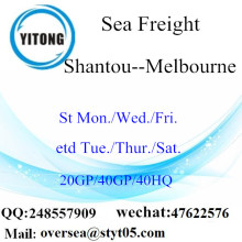 Shantou Port Sea Freight Shipping To Melbourne