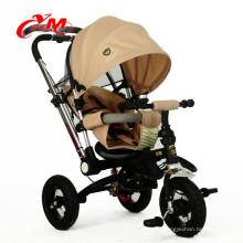 Trike de 3 ruedas de calidad superior para niños pequeños Triciclo de bebé de 1 año / plegable 4 en 1 / personalizado Cochecito de bebé nuevo de tres ruedas 2016