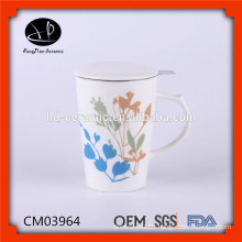FDA,CE / EU,SGS Certification and Porcelain Ceramic Type promotion mug with lid