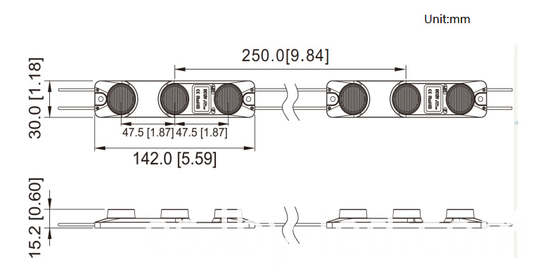 Size of LG LED Module