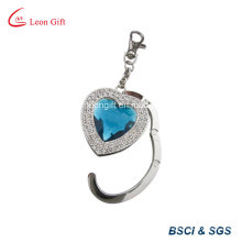 Metal and Crystal Bag Hook Keychain / Keyring