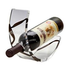 Affichage de vin acrylique noir unique parfait de partie supérieure du comptoir avec le fabricant de logo