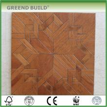 Piso de madera del parquet de la decoración de la teca