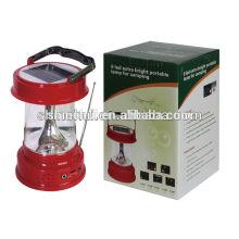 Lanterna solar conduzida do preço de fábrica, lanterna solar conduzida, lâmpada solar com rádio do fm