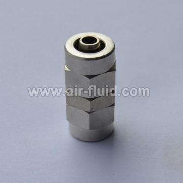 Straight Connector Nickel Plated Brass Push-On Tubing Fittings
