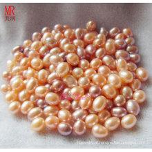 8-9mm Mistura de cor oval pérolas soltas Beads